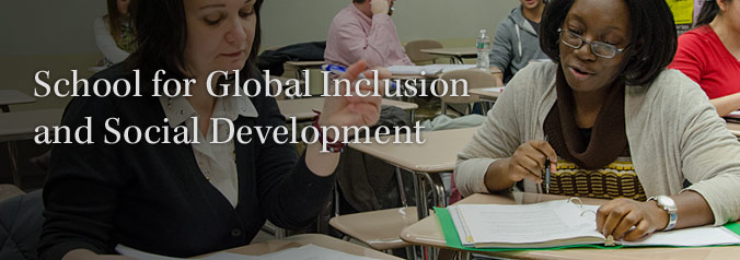 School for Global Inclusion and Social Development branding image